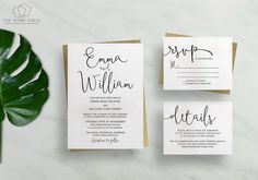 Printable Wedding Invitation Suite Calligraphy / Save the Date / RSVP/ Thank You/ Details / Custom / Download / Invitation Set / Boho Suite
