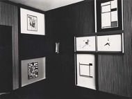 El Lissitzky, Kabinett der Abstrakten, 1928/29 © VG Bild-Kunst, Bonn 2013 / Foto: Herling / Gwose -- Alexander Dorner invited Lissitzky to make a room for the Hannover Museum. Dorner was director of the Hannover from 1925-37, the laboratory years of exhibition design. Abstract Cabinet's works could be moved on sliding panels by the visitors, aligning with Dorner's idea of the museum as an energy plant or Kraftwerk.