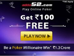 Sign Up & Get Rs.100 In Your Adda52 Account Online Coupons, Discount Coupons, Online Poker, Play Online, Coupon Codes, Accounting, The 100, How To Apply, Coding