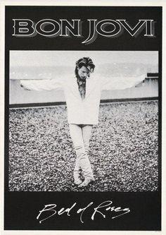 Bon Jovi Bed Of Roses Rare Poster