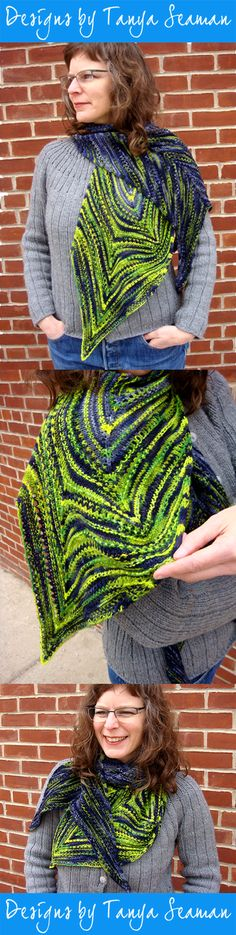 Pattern by Tanya Seaman Roving Yarn, Curves, Pattern, How To Wear, Color, Design, Colour, Model, Design Comics