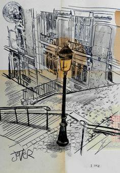 "Saatchi Art Artist Loui Jover; Drawing, ""vigil"" #art"