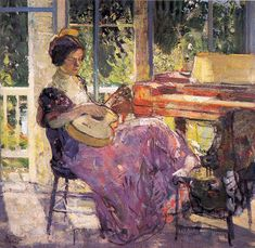 Richard Emil Miller (1875-1943) American Impressionist Painter (2)