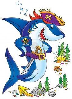 dibujos de tiburones infantiles - Buscar con Google   El mar ...