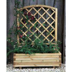 lattice panel and planter - Bing images