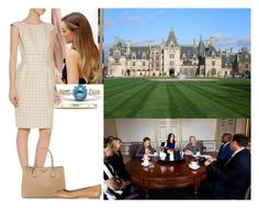 """""""Attending the first meeting of the Crown Princess Dana Foundation at the palace"""" by dana-avots ❤ liked on Polyvore featuring Biltmore, Prada and Tory Burch"""