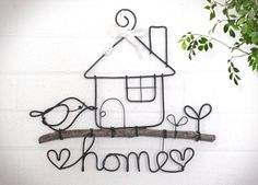 home sweet home hanging sign wire craft