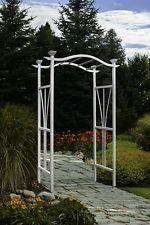 New London Arbor Outdoor Vinyl Patio & Garden Wedding Arch 81 x 45 White