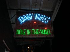 New Orleans, Louisiana: Johnny White's Hole in the Wall on 718 Bourbon Street. The only bar not closed during and after Katrina... news broadcasted from there