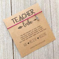 Teacher Tribe Wish Bracelet, Teacher Gift, Teacher Wish Bracelet, Friendship Bracelet, Wish Bracelet Wish Bracelets, Cord Bracelets, Diy Gift For Bff, Ask Believe Receive, Make A Wish, Bracelet Making, Teacher Gifts, Biodegradable Products, Friendship Bracelets