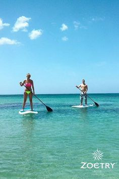 At Zoëtry Agua, we want you to keep up your workout routine and have fun doing it! Try a new activity such as paddle boarding while on your vacation in the Dominican Republic!