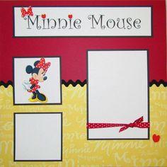 Minnie- Disney scrapbook page ideas | ... jennifershaver1 - Disney MINNIE MOUSE 12x12 Premade Scrapbook Pages