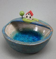 Private LakeKeepsake Bowl in Stoneware by elukka on Etsy, €35.00