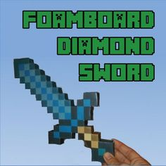 Foamboard Minecraft Diamond Sword: 7 Steps (with Pictures) Minecraft Projects, Minecraft Crafts, Minecraft Party, Minecraft Diamond Sword, Minecraft Sword, Diy Jewelry Necklace, Jewelry Making Beads, Minecraft Costumes, Minecraft Christmas