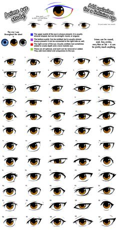 anime eye drawing reference, male/femaleYou can find Anime eyes and more on our website. Drawing Techniques, Drawing Tips, Drawing Reference, Drawing Sketches, Drawing Ideas, Drawing Art, Art Drawings, Drawing Lessons, Eye Sketch