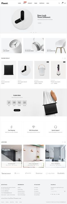 Buy JMS Fluent - Creative Multi-Purpose WooCommerce Theme by joommasters on ThemeForest. JMS Fluent is creative multi-purpose WordPress theme with a minimal design, clean, and simple for creating your best. Homepage Layout, Website Design Layout, Wordpress Website Design, Wordpress Theme Design, Web Layout, Layout Design, Web Design Services, Web Design Trends, Fashion Website Design