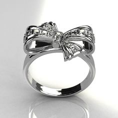 Tiffany's bow ring <3  pretty.