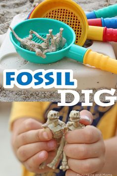 Dinosaur Fossil Dig- this would be a fun activity for a play group or birthday party!