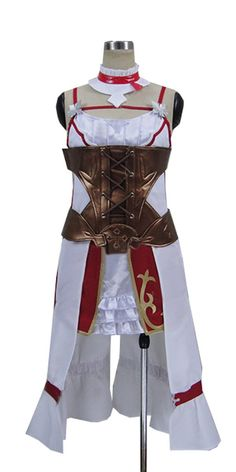 Onecos Anime Sword Art Online Asuna New Dress Uniform Cosplay Costume >>> Check out this great product.
