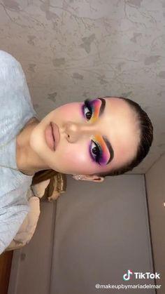 Cute Eye Makeup, Purple Eye Makeup, Eye Makeup Steps, Makeup Eye Looks, Creative Makeup Looks, Colorful Eye Makeup, Natural Eye Makeup, Glam Makeup, Makeup Art