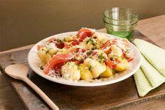 Lun blomkålsalat med parmaskinke Potato Salad, Nom Nom, Food Porn, Potatoes, Ethnic Recipes, Italia, Potato, Treats