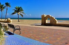 Where I got engaged. Although we are no longer together I have nothing but amazing memories of my many many vacations here Hollywood Beach Florida, Magical Creatures, Urban Planning, South Florida, Under The Sea, Sun Lounger, Places Ive Been, Wander, Paths