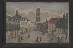 Gezicht op de Mariaplaats te Utrecht, 18de eeuw
