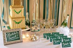 green and gold wedding color ideas 32
