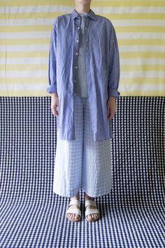 Daniela Gregis - washed cotton mens' style shirt