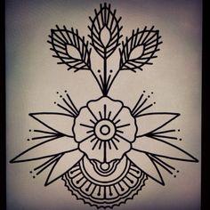 old school flower - Pesquisa Google