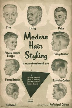 What all the stylin' white boys were wearing on their heads in the 1950s