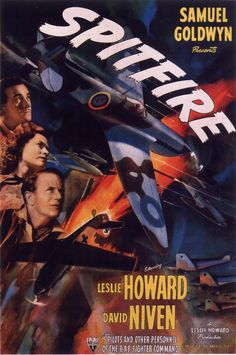The First of the Few, known as Spitfire in the United States, is a 1942 British film directed by and starring Leslie Howard as R.J. Mitchell, the designer of the Supermarine Spitfire, alongside co-star David Niven.                  # movies # War Movie # WWII movies # Military Movie # movies poster