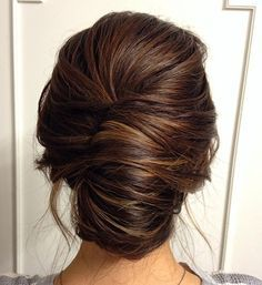 Wedding Hairstyles Medium Hair Smooth French twist updo on brown hair - The showcase of 25 fabulous French twist updos. The best-looking hairstyles with French twists ranging from classical and vintage ones, to modern and elegant Long Hair Wedding Styles, Wedding Hair And Makeup, Trendy Wedding, Bridal Makeup, Up Hairstyles, Wedding Hairstyles, Formal Hairstyles, Bridesmaids Hairstyles, Updos Hairstyle