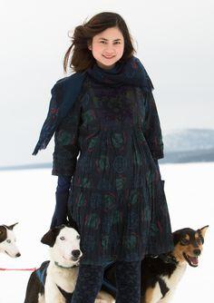 """Flora"" eco-cotton dress – Vinterherbarium – GUDRUN SJÖDÉN – Webshop, mail order and boutiques | Colorful clothes and home textiles in natural materials."