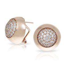 Ritz Rose Gold Earrings by Belle Etoile. Fashion Jewelry. Street Fashion. Silver Jewelry. Rose Gold Earrings. ♥ #BelleEtoile exclusively at #Capri #Jewelers #Arizona ~ www.caprijewelersaz.com  ♥