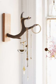 Organize your jewelry while making a statement with this antler stand