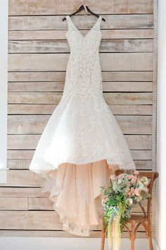 V Neck Mermaid Long White Lace Appliques Wedding Dress with Train WD113 #weddingphotography #WeddingDressesMermaid