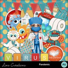 Digital Scrapbooking Kits | Pandemic-(LinsCre) | Everyday, Family, Science, Seasons | MyMemories
