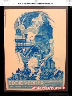 Eddie Vedder Poster - 13/02/2014 - Sidney Opera House - Sidney - Australia