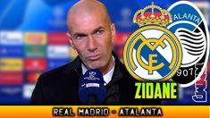 Declaraciones de ZIDANE post Real Madrid - Atalanta (16/03/2021) Zinedine Zidane, Real Madrid Club, Youtube, Youtubers, Youtube Movies