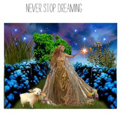 """NEVER STOP DREAMING   ♥"" by louisevegasgirl ❤ liked on Polyvore featuring art"