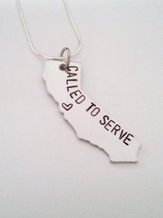 California Called to Serve LDS Mormon Missionary Necklace by TempleStamping