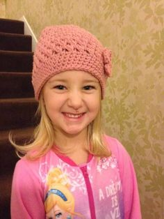 Maggie showing that hats can be worn to bed as well :-)