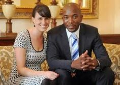 Mmusi Maimane (leader of South Africa's opposition Democratic Alliance (DA) political party) & his wife.