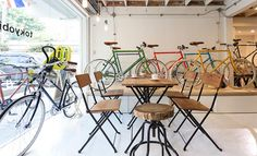 Tokyo Bike Bangkok. Ace Hotel Vibe. Designer bikes to buy and rent. Monocle magazines. Cool kid hang spot. Plants all around : )