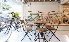 Tokyo Bike Bangkok. Ace Hotel Vibe. Designer bikes to buy and rent. Monocle magazines. Cool kid hang spot. Plants all around : )