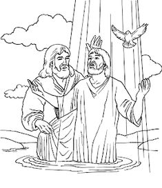Jesus baptism Pictures, Wallpapers and Coloring pages Jesus Coloring Pages, Coloring For Kids, Coloring Pages For Kids, Coloring Books, Coloring Sheets, Adult Coloring, Baptism Pictures, Christmas Bible Verses, Sunday School Coloring Pages
