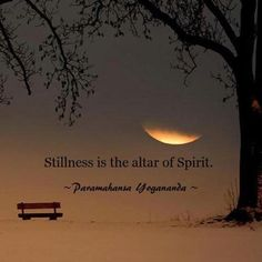 Stillness is the altar of Spirit ~ Paramhansa #Yoganandae