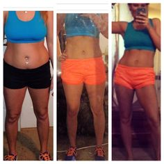 My #t25 results (before, 1week, 5wks)