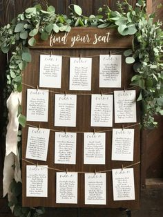 Find your seat seating chart board rustic seating sign woodYou can find Table arrangements and more on our website.Find your seat seating chart board rustic seating sign wood Perfect Wedding, Fall Wedding, Diy Wedding, Rustic Wedding, Wedding Hacks, Wedding Beauty, Wedding Blog, Wedding Advice, Wedding Images